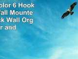 You Pick the Stain and Mesh Color 6 Hook Stained Wall Mounted Coat Rack Wall Organizer and