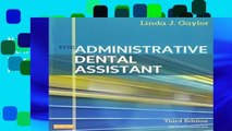 New Trial The Administrative Dental Assistant [With Workbook] D0nwload P-DF