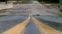 Severe flooding threatens College Lake Dam near Lynchburg, Virginia