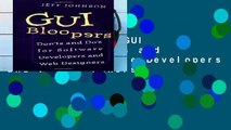 Reading Online GUI Bloopers: Don ts and Do s for Software Developers and Web Designers