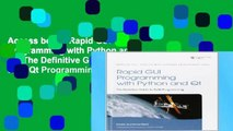Read PDF] Rapid GUI Programming with Python and Qt: The