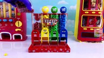 Learn Colors with M&M Candy Machine Surprise Eggs Toy Surprises Best Learning Colours Vide