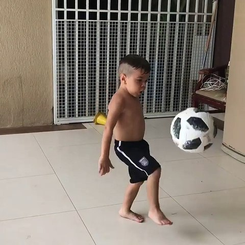 Little boy football play and he's awesome!