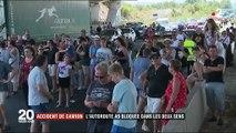 Accident de camion : l'autoroute A9 bloquée dans les deux sens