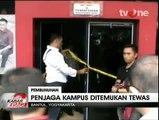 Satpam Kampus di Yogyakarta Dibunuh Perampok