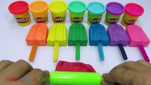 Learn Colors Play Doh Ice Cream Popsicle Animal Molds Fun and Creative for Kids Rhymes DIY