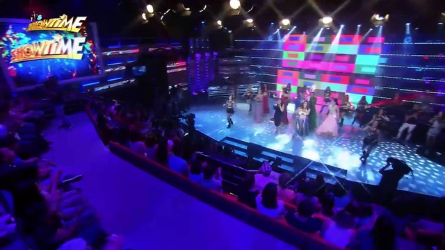 """It's Showtime: Miss Q & A Top 6 performs """"Born This Way"""" on It's Showtime stage"""