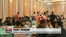 Family reunions participants determined -- 93 S. Koreans, 88 N. Koreans to meet families