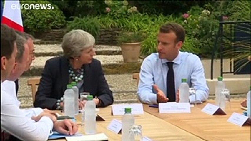 Brexit: rencontre Macron-May à Brégançon