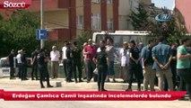 Erdoğan, Çamlıca Camii inşaatında incelemelerde bulundu