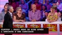 TLMVPSP: Nagui mort de rire après l'anecdote gênante d'une candidate (Vidéo)
