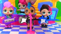 LOL Surprise Doll Punk Bois Morning Routine with His Band at Playground