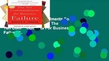 View The Ten Commandments For Business Failure Ebook The Ten Commandments For Business Failure Ebook