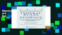 D0wnload Online Federal Rules of Evidence: With Advisory Committee Notes and Legislative History,
