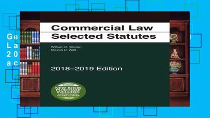 Get s  Commercial Law Selected Statutes 2018 2019 Edition Full Access Full Movies