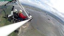 Vol en ULM au-dessus de la baie du Mont-Saint-Michel