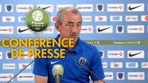 Conférence de presse Paris FC - AS Nancy Lorraine (2-0) : Mecha BAZDAREVIC (PFC) - Didier THOLOT (ASNL) - 2018/2019