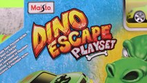 Dinosaurs toys Dino Escape Playset toy track set for Hot Wheels & Matchbox cars and trucks