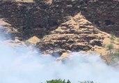 Honolulu Firefighters Battle Brush Fire in Makaha Valley