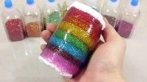 무지개 반짝이 액체괴물 만들기!! 흐르는 점토 액괴 클레이 슬라임 장난감 놀이 How To Make Rainbow Clay Slime Toys