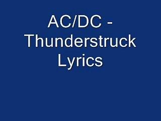 AC/DC Thunderstruck Lyrics