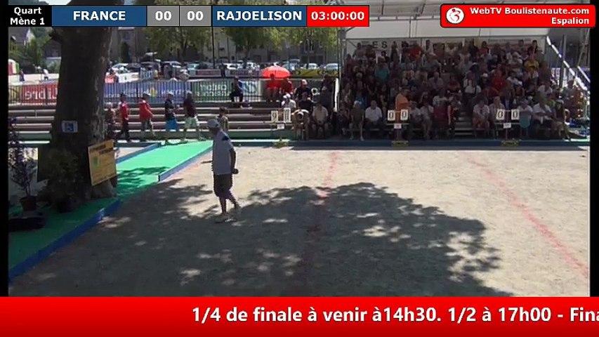 International à pétanque d'Espalion 2018 : Quart de finale FRANCE vs MADAGASCAR