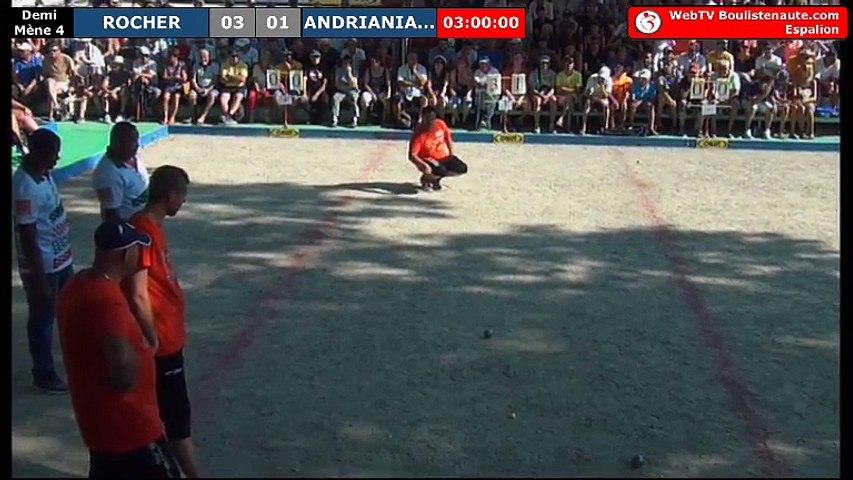 International à pétanque d'Espalion 2018 : Demi-finale ROCHER vs ANDRIANIAINA