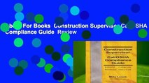 About For Books  Construction Supervisor Cal/OSHA Compliance Guide  Review