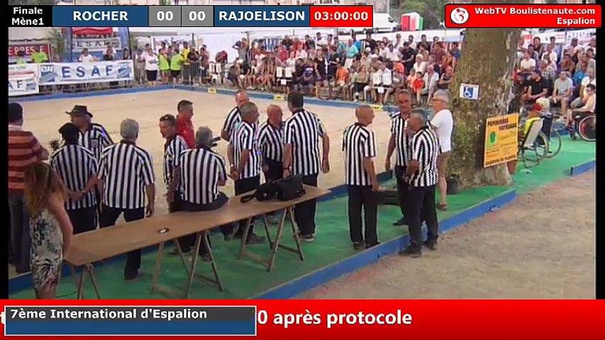 International à pétanque d'Espalion 2018 : la finale ROCHER vs MADAGASCAR