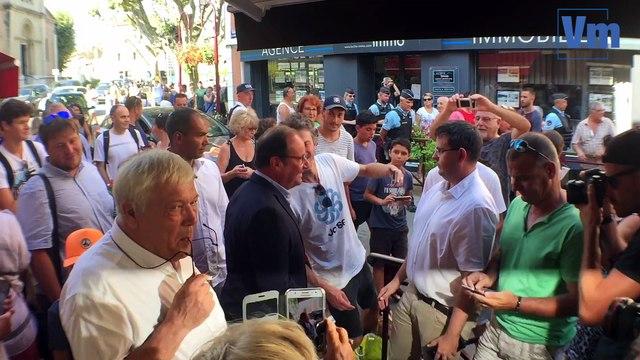 François Hollande à la rencontre de ses fans