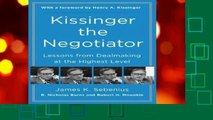 About For Books  Kissinger the Negotiator  Any Format