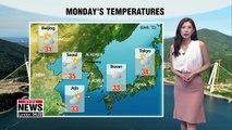 Inland regions see sporadic rain but still hot _ 080618