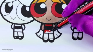 Powerpuff Girls Blossom Bubbles Buttercup Coloring Page! Fun Powerpuff Girls Coloring Acti