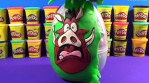 The Lion king toys GIANT PUMBAA Surprise Egg Play Doh from The Lion King Simba