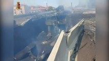 Italie: un camion citerne explose sur le périphérique de Bologne