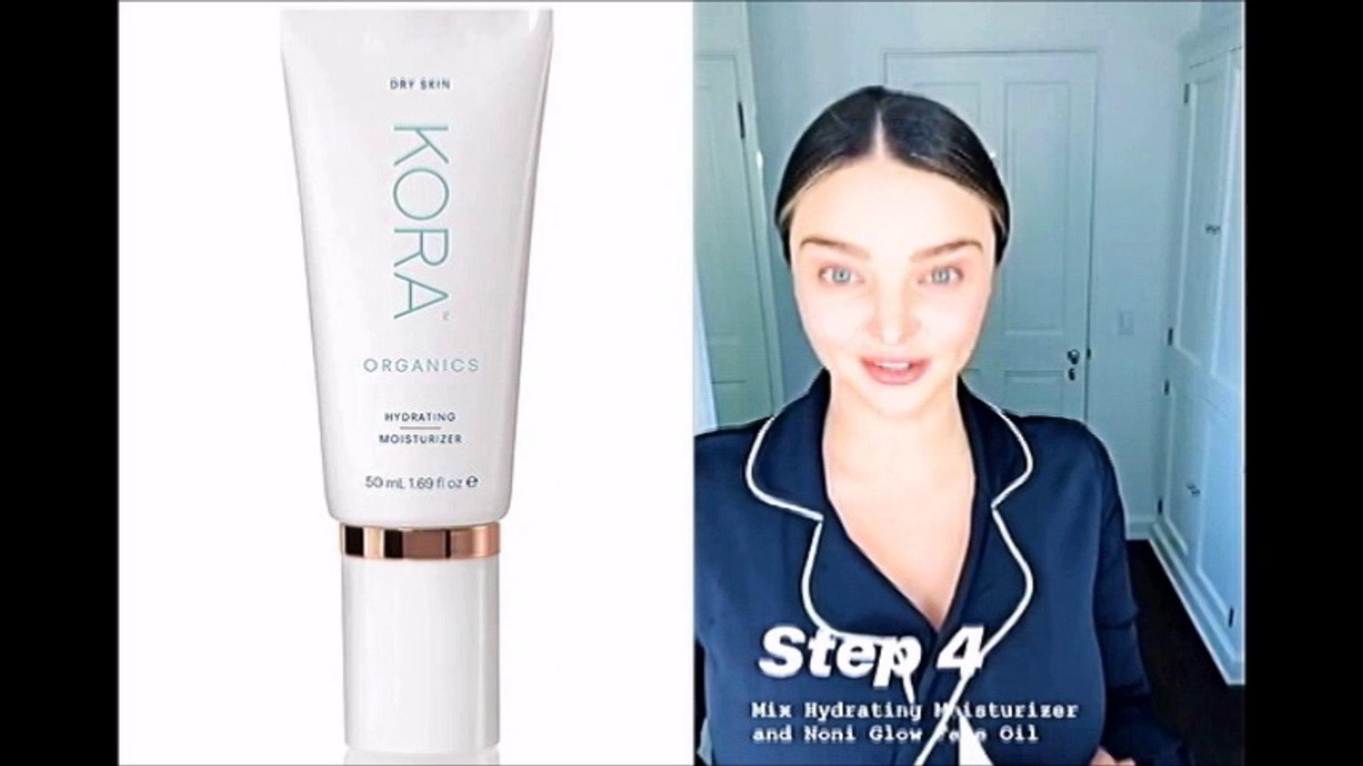 Morning Skincare Routine with Miranda Kerr & Kora Organics