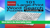 Reading Funster 101 Large-Print Word Search Puzzles, Volume 1: Hours of brain-boosting