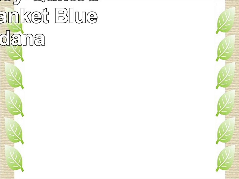 Vera Bradley Quilted Fleece Blanket Blue Bandana