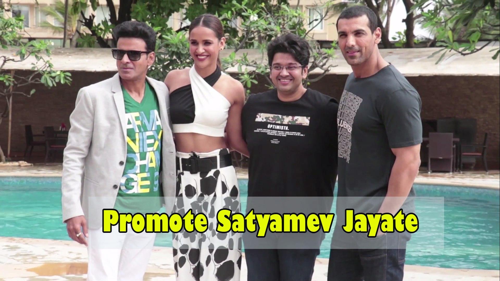 John Abraham, Manoj Bajpai, Nora Fatehi Promote Satyamev Jayate