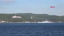 Çanakkale Rus Savaş Gemisi 'Azov' Çanakkale Boğazı'ndan Geçti Hd