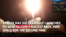 SpaceX Successfully Launches New Falcon 9 Rocket