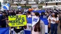 Estudiantes y egresados de la universidades realizan plantón frente a la UCA para exigir respeto al 6% constitucional que le asignan a las casas de estudios sup
