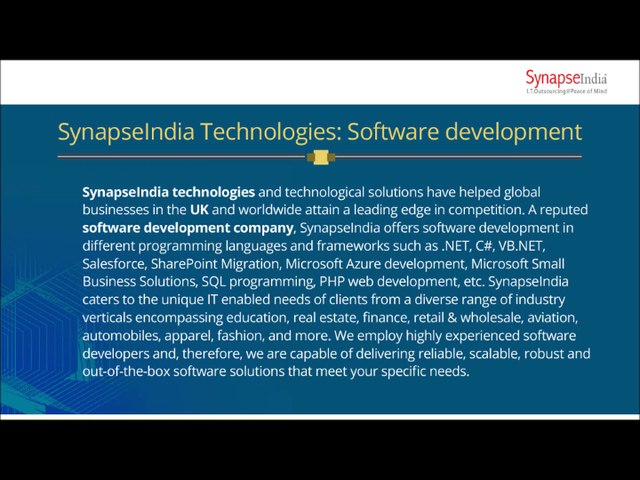 SynapseIndia technologies- CRM solutions