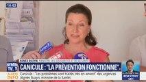 """Canicule: """"Il n'y a pas d'augmentation notable"""" de la mortalité, assure Agnès Buzyn"""