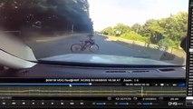 شاهد: نجاة طفل على دراجة من حادث سير في بريطانيا