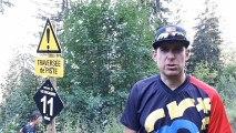 La Clusaz : un VTT et une pioche pour panoplie… la bike patrol  en action sur les pistes