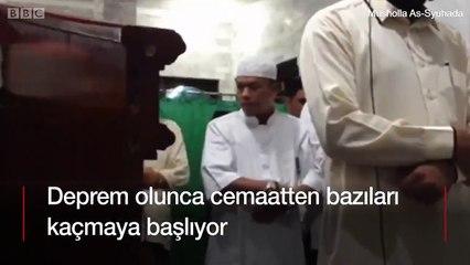 Deprem sırasında cemaat dağıldı ancak imam namazı bozmadı