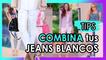 Combina jeans blancos