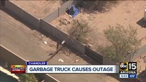 Garbage truck causes outage in Chandler neighborhood