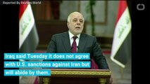 Iraq Condemns US Sanctions On Iran, Will Follow Them